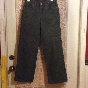 Olive green Dickies carpenter pants